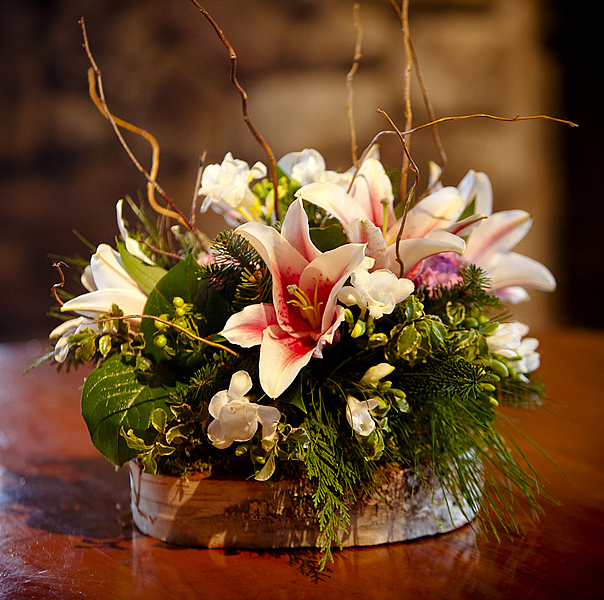 Wedding flower centerpieces lake placid flower and gift for Floral arrangements for wedding reception centerpieces